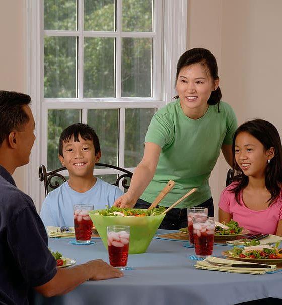 Lekker en rustig avondeten met kinderen